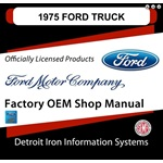 1975 Ford Truck & Van Factory Shop Manual, CD