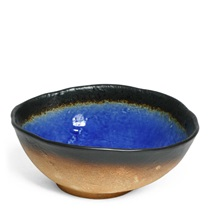 "COBALT BLUE 9.5"" OVAL SERVING BOWL"