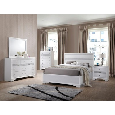 25760T NAIMA WHITE TWIN BED