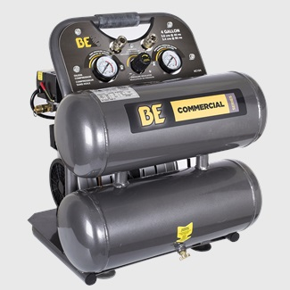 4 Gallon Twin Tank Oil-Free Compressor