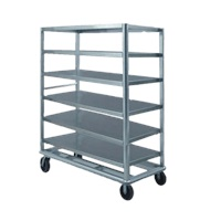 "Food Warming Equip UC-60-609AL Queen Mary Utility Cart 24"" X 57"" Shelves"