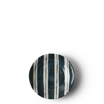 "Teal Stripes 3.75"" Sauce Dish"