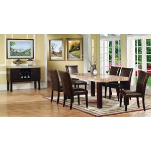 70130KIT FRASER DINING TABLE W/FAUX MBL