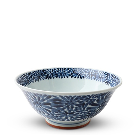 "Blue & White Floral 7.75"" Noodle Bowl"