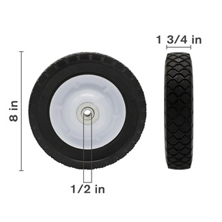 "8"" Semi-Pneumatic Lawn Mower Wheel"