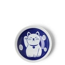 "Blue Fortune Cat 6.5"" Plate"