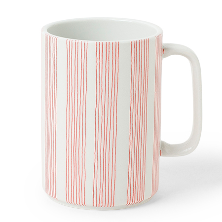 Mug Red Obi Stripe