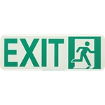 Lume-A-Lite Running Man Photoluminescent Exit Sign