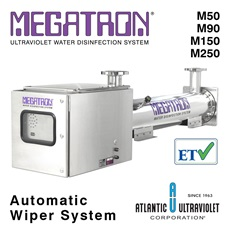 MEGATRON® UV Water Disinfection 90 – 450 GPM - Automatic Wiper System (Lamps / Quartz Sleeves Included)