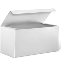 12 X 6 X 6 WHITE 1 PIECE GIFT BOX, 50/CS