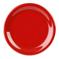 "Thunder Group Cr110Pr Pure Red Melamine 10-1/2"" Narrow Rim Plates"