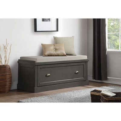 96616 GRAY BENCH W/STORAGE