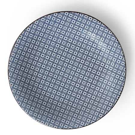 "Blue & White Stitch 11"" Plate"