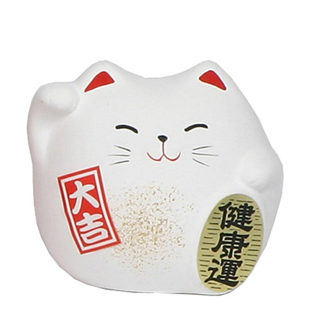 "Feng Shui Cat 2.25"" - White"