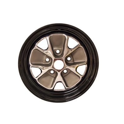 1966 14x5 Styled Steel Wheel - Black