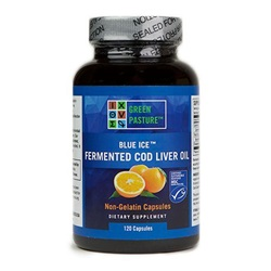 Blue Ice™ Fermented Cod Liver Oil: Orange (120 caps)