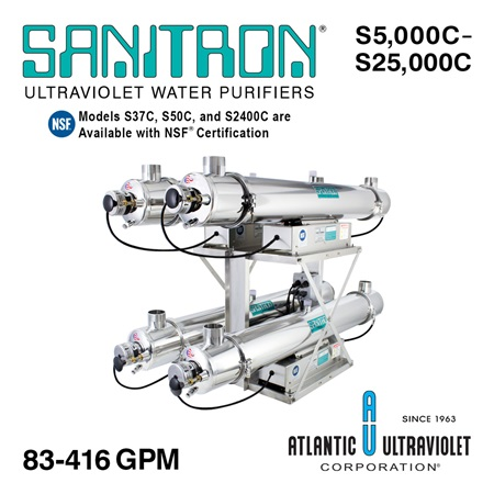 SANITRON UV Water Purifiers 83–416 GPM (Multi-Chamber)