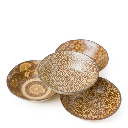 "Sepia 5.5"" Shallow Bowl Set"
