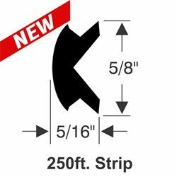 "5/8"" x 5/16"" Rub Rail Flexible Insert Kit - 250 ft."
