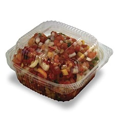 "PLA-EC6 6 X 6 X 3"" CLEAR HINGED CONTAINER, JAYA"