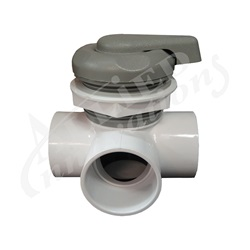 "DIVERTER VALVE:  2"" HORIZONTAL 2-PORT TOP ACCESS"
