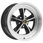 15 x 7 Legendary GT9 Alloy Wheel, 5 on 4.5 BP, 4.25 BS, Gloss Black / Machined