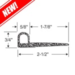 "2-1/2"" - ""P"" Profile Wiper Seal"