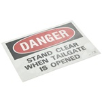 "DECAL,""DANGER-STAND CLEAR WHEN"