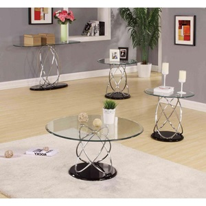 80795_KIT DERON CHROME/BK COFFEE TABLE