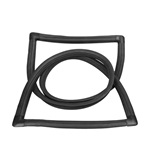 Liftgate Window Gasket with Trim Groove