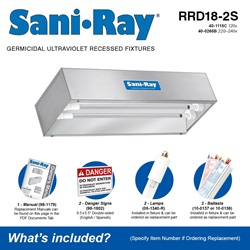 Sani•Ray RRD18-2S Included Accessories