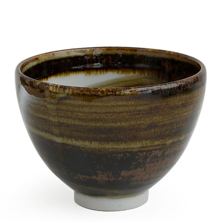 BROWN SWIRL BOWL