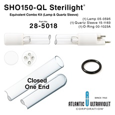 SHO150-QL Viqua™ / Sterilight® Equivalent Combo Kit (Lamp, Quartz Sleeves, O-Rings) for the SPV-2.5 and SP150-HO