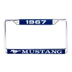 1967 Mustang Year Dated License Plate Frame