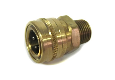 "Brass 1/2"" MPT x 1/2"" Female Socket - Quick Disconnect"