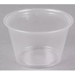 400PC DART 4 OZ CLEAR PLASTIC SOUFFLE PORTION CUP, 2000/CASE