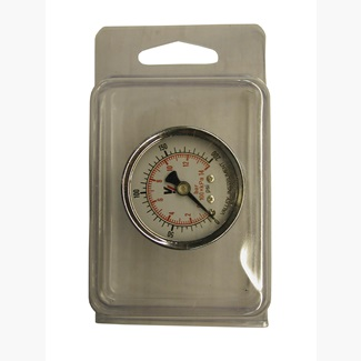 "Dry 0-200 PSI 1.5"" Face Rear Mount Gauge Blister Pack"
