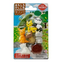 Iwako Safari Animals Eraser Set