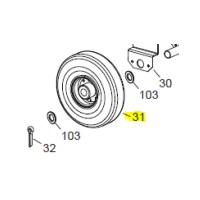 Veloci Heater Replacement Wheel 260 - 26