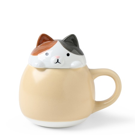 Mug with Lid Calico Cat