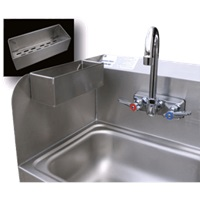 Advance Tabco 7-PS-48 Removable Utility Tray to Hang on Hand Sink Side Splash Stainless Steel