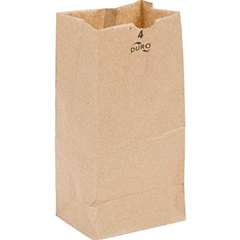 4# GROCERY BAG, 5 X 3-1/8 X 9-3/4, DURO