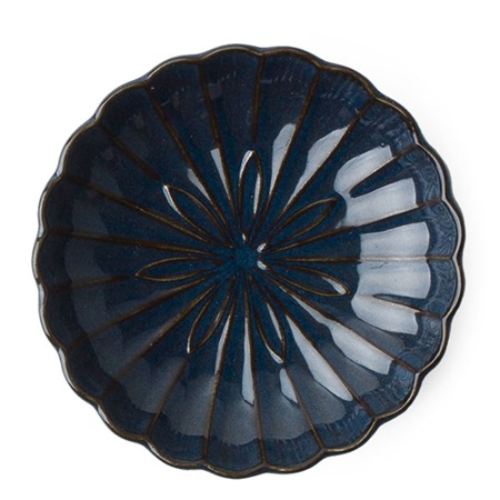 "Kiku 4.5"" Small Plate - Navy"