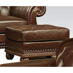 15034 TOP+SPLIT LEATHER OTTOMAN