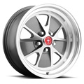 "17x7"" Legendary Styled Alloy Wheel, 5 on 4.5 BP, 4.25 BS, Charcoal/ Machined"