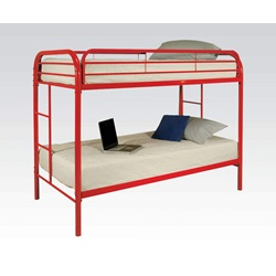 02188RD RED TWIN/TWIN BUNK BED