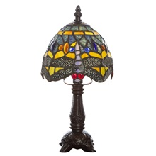 "12""H Tiffany Style Dragonfly Accent Lamp"