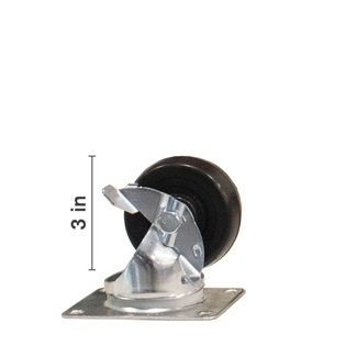 3 inch Swivel With Side Locking Brake