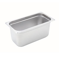 "Economy Anti-Jam 1/3 Size, 6"" D Steam Table Pan"