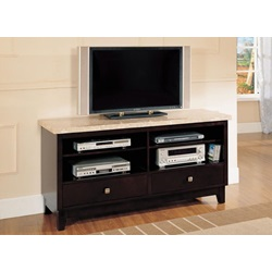 17093B TV CONSOLE W/WHITE MARBLE TOP